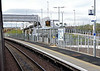 Shawfair station, Sun 25 September 2016 - 1002. The reinstated line starts at Newcraighall, just under five miles from Waverley.  Shawfair is the first station.  It is on the first of three crossing loops on the single track line.  There was no station here in steam days.