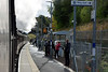 Passing Gorebridge, Sun 25 September 2016 - 1011.  The new station is on a single track section so this is the only platform.