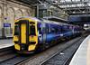 158723, 2T66, Edinburgh Waverley, Sun 25 September 2016 - 0845.  The Borders Railway train stands at platform 20 with the 0911 to Tweedbank.