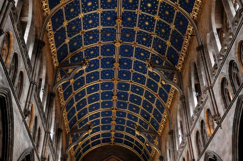 Carlisle Cathedral ceiling, Sat 30 July 2005.