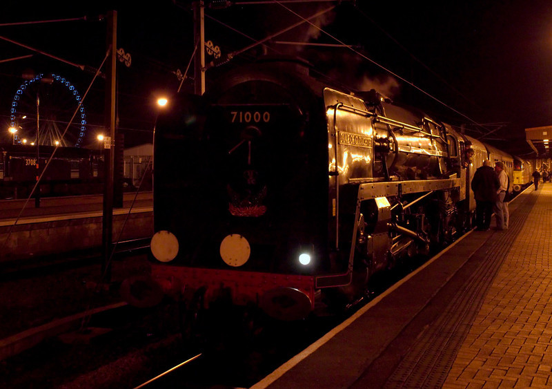 71000 Duke of Gloucester, 1Z52, York, 10 March 2007 - 2220 3.  The Duke and its support coach have detached from 47826, which will work the train back to Preston.