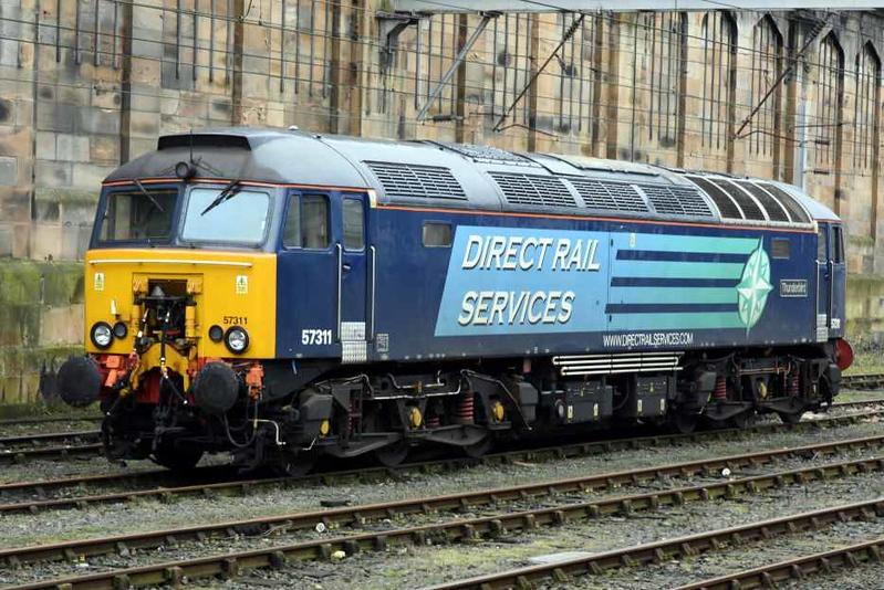 57311 Thunderbird, Carlisle, Sat 27 January 2018.  Thunderbird standby loco.