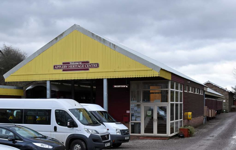 Appleby Training and Heritage Centre, Appleby, Sat 27 January 2018.  The centre was established in 1996 and provides vocational training.  It originally occupied the Midland Railway goods shed but has expanded and now also uses seven railway coaches and vans.