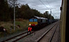 66422, 4M16, Tebay, 10 October 2009 - 1759      A fleeting shot of DRS's 1039 Grangemouth - Daventry Tesco Express, finally looped out of harm's way.