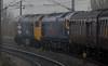 50049 Defiance & 50044 Exeter, 1Z47, leaving York, Sat 19 November 2011 - 0808.