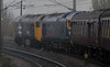 50049 Defiance & 50044 Exeter, 1Z47, leaving York, Sat 19 November 2011 - 0808.