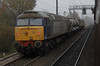 57007 & 57009, 3S77, Durham, Sat 19 November 2011 - 0857.  DRS's Tyne-Tees railhead treatment train heads south from Carlisle Kingmoor.