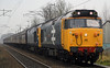 50049 Defiance & 50044 Exeter, 5Z34, Carnforth, Sun 20 November 2011 - 1159.  The 50s bring the 'Edinburgh Explorer 2' ECS and 57001 back to Carnforth. As usual with WCRC Preston - Carnforth ECS moves it was running 90 minutes early.