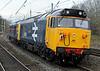 50044 Exeter & 50049 Defiance, 0Z47, Lancaster, Fri 18 November 2011 - 1531 2.