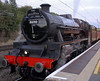 5690 Leander, 1Z25, Lancaster, Wed 25 Aug 2010 - 2024     A last look at Leander as it prepares to take the ECS to Carnforth.  Given the size of its train, the Jubilee and its crew had coped really well with its 268 mile run both ways over the formidable Settle & Carlisle.