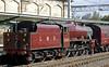 5690 Leander, 1Z25, Carlisle, Wed 25 Aug 2010 1 - 1514    Leander brings the 'Fellsman' ECS from the shunt neck into platform 4...