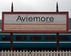 Aviemore Station sign 2: Strathspey Railway, 27 August 2007   The Strathspey Railway has been using Aviemore Station since 1998.