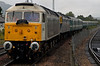 47839 Pegasus & 47832, Aviemore, 27 August 2007 6 - 1418   ...and finally bring the stock into platform 2.