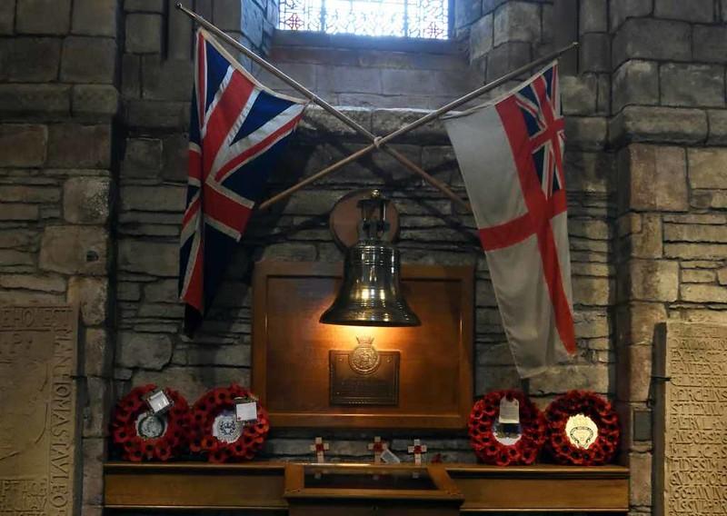 HMS Royal Oak memorial, Kirkwall cathedral, Orkney, 24 May 2015