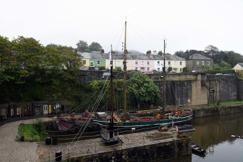 Charlestown harbour, Cornwall, Sun 3 September 2017 3.  The ship is the Kajsamoor.