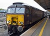 57314, 1Z37, Exeter St David's, Sun 3 September 2017 - 1126.  Not the Scot!!  46100 had been booked to work the 0852 Bristol Temple Meads - Par Royal Duchy from Taunton, but Network Rail had not allowed it to run because its registration had lapsed.  Hence the 57, which had brought the stock from Southall, and had been booked to work the train between Bristol and Taunton, worked the Duchy throughout.  The eight coaches were 13320 Anna, 99712, 99350 Tanzanite, 99121, 5229, 1860, 5032 & 99723.