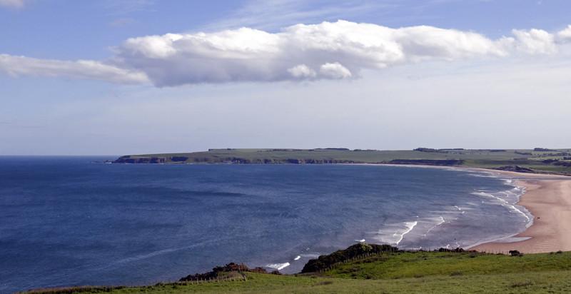 Looking south over Lunan Bay, Fri 18 June 2010 - 1739
