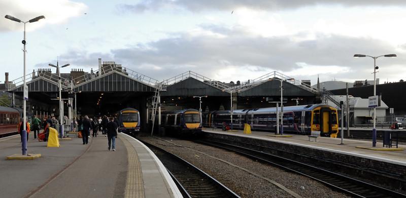 Inverness, Fri 18 June 2010 - 2106   'The Highlander' stands at platform 1.