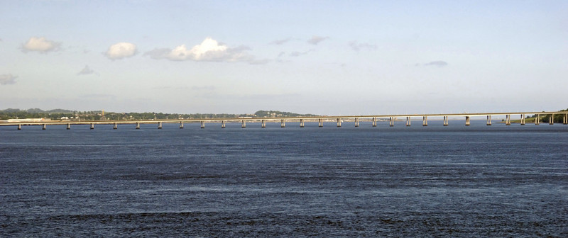 Looking east to the Tay road bridge, Fri 18 June 2010 - 1649