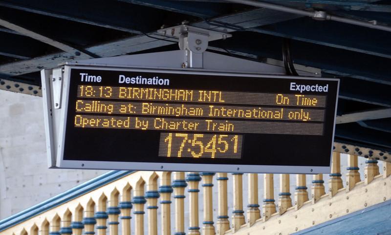 Destination indicator for 'The Highlander', Carlisle, Mon 21 June 2010 - 1755