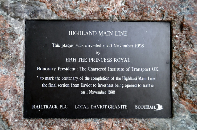 Highland Railway centenary plaque, Inverness, Sat 19 June 2010     The plaque marks the completion of the direct Aviemore - Inverness line over Slochd.