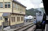 4464 Bittern, Kingswear, Sun 2 September 2012 - 1242. 2.  The A4 propels the Torbay Express stock into a siding to clear platform 2 for...