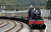 7827 Lydham Manor, Kingswear, Sun 2 September 2012 - 1249.  ...the Dartmouth Steam Rly's 1215 from Paignton.