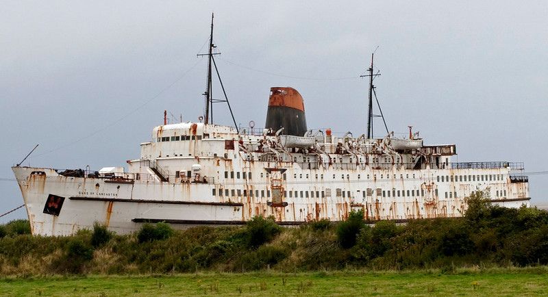 Duke of Lancaster, Mostyn, 26 August 2009     The former Heysham - Belfast ferry continues to decay.