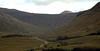 Horseshoe curve, 25 August 2007 2    Looking southeast into Glen Corolan, with Beinn Challum (3,354ft) peering above  Beinn Chaorach's northern ridge.
