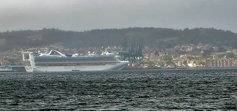 Grand Princess, Greenock, 25 August 2007   The 109,000 ton cruise ship mainly operates in Eusropean waters in the summer and autumn, and was visiting Greenock for the day.