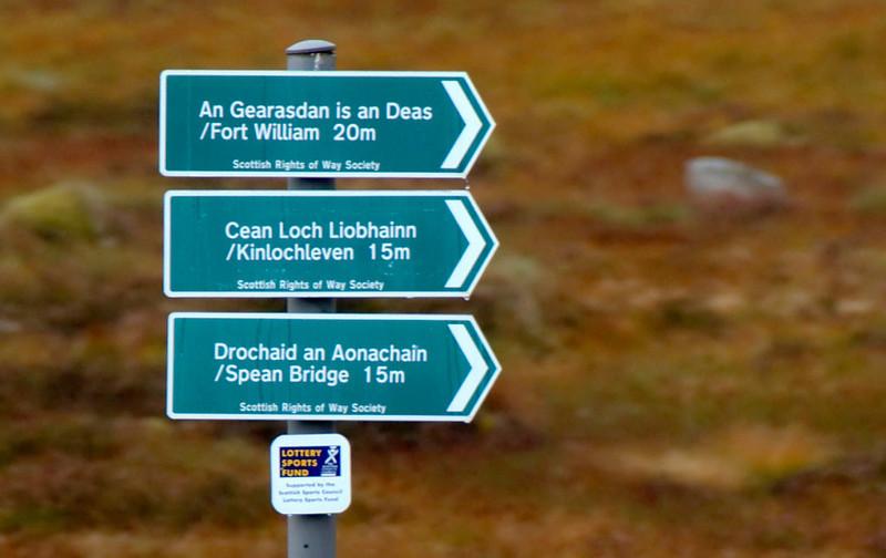Signpost, Corrour, 27 September 2009 - 1029