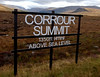 Corrour summit, 26 September 2009 - 1202     Corrour is Britain's second highest railway summit, beaten only by Druimachadar (1484 feet) on the Perth - Aviemore Highland main line.  From here the line falls continuously over the 25 miles to Fort William.