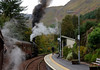 62005 Lord of the Isles, 1Z25, leaving Glenfinnan, 26 September 2009 - 1403
