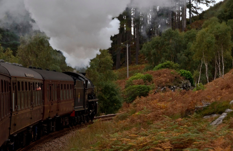 62005 Lord of the Isles, 1Z25, topping Beasdale bank, 26 September 2009 - 1435    Two twisting miles at 1 in 48!