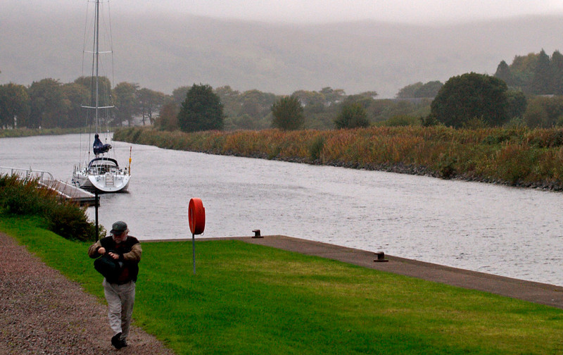 Looking south over the Caledonian Canal, Banavie, 26 September 2009 - 1839     This is the approach to Neptune's Staircase.