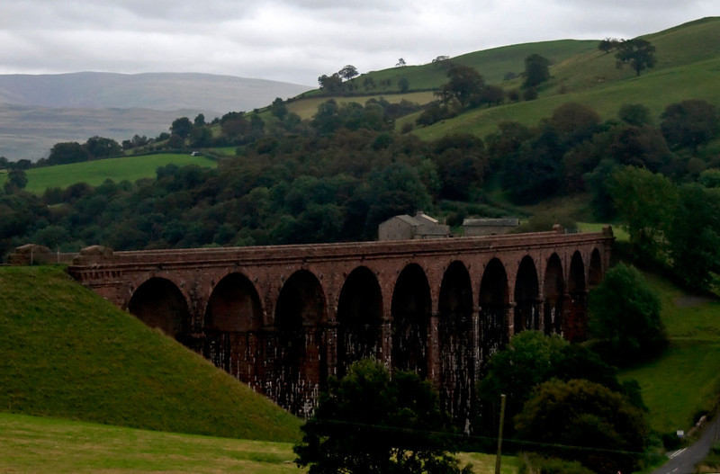 Low Gill viaduct, 25 September 2009 - 1246     The viaduct carried the LNWR branch from Low Gill to Ingleton, where it met the Midland branch from Clapham.  The line opened in 1861 and closed in 1966, although regular passenger services had finished in 1954.