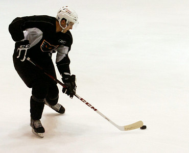 Brandon Manning during practice on the first day of practice for the Adirondack Phantoms at the Glens Falls Civic Center. Photo Erica Miller 10/9/12 spt_Manning1_Fri