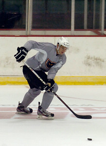 Tye McGinn during practice on the first day of practice for the Adirondack Phantoms at the Glens Falls Civic Center. Photo Erica Miller 10/9/12 spt_McGinn1_Fr