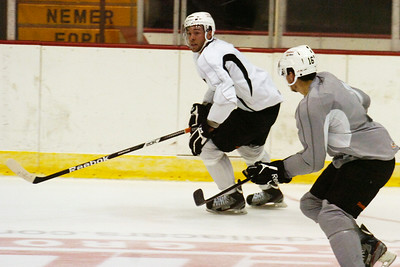 Tyler Brown during practice on the first day of practice for the Adirondack Phantoms at the Glens Falls Civic Center. Photo Erica Miller 10/9/12 spt_Brown1_Fri