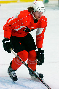 Phantom's Hockey Sean Couturier during practice in preparation for their game on Saturday evening. Photo Erica Miller 10/23/12 spt_Couturier_up