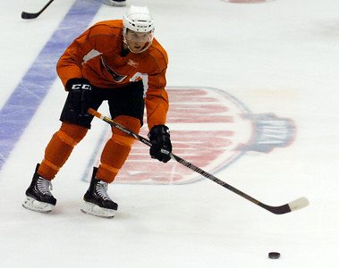 Brayden Schenn during practice on the first day of practice for the Adirondack Phantoms at the Glens Falls Civic Center. Photo Erica Miller 10/9/12 spt_Schenn1_Wed