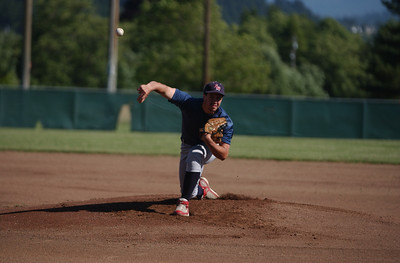 Southern Humboldt starting pitcher James Slade delivers against North Humboldt in the first inning of Thursday's game.