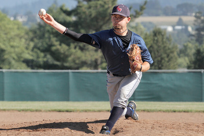 Josh Jackson/The Times-Standard  Southern Humboldt's #31 pitches during Saturday's game in Fortuna