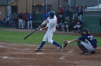 The Humboldt Crabs XX connects for a two-RBI, standup triple against the California Glory during the fourth inning of Saturday's game.