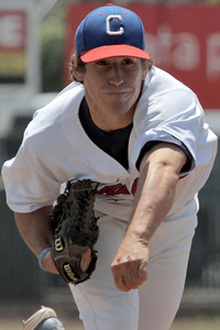 Josh Jackson/The Times-Standard  Crabs' #11 pitches during Sunday's game in Arcata.