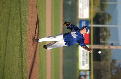 The Humboldt Steelheads' Bobby Branchini delivers against the Sluggers during the first inning of Thursday's game.