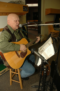 Michael Yates performs at the Farmer's Market at the Cornell Cooperative Extension in Ballston Spa on Saturday, Feb. 5th. photo by Tony Bucca