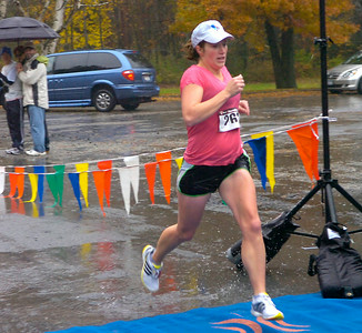Shelly Binsfield of Schenectady was the first female finisher in the Great Pumpkin Challenge 5K. Ed Burke 10/24/09