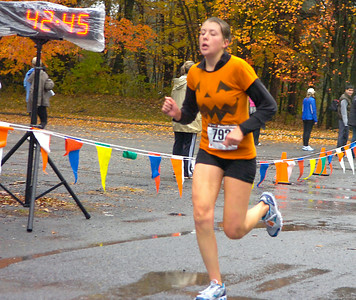 Heather Cirka of Troy was the first female finisher in the Great Pumpkin Callenge 10K. Ed Burke 10/24/09