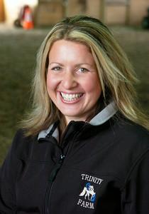 Suzanne Haberek of Trinity Morgan Farm in Broadalbin. Ed Burke 9/30/09